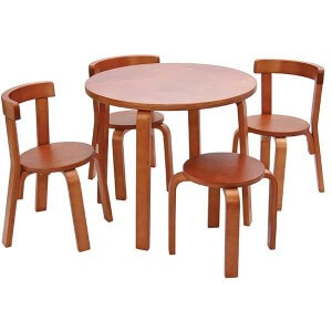 SVAN Toddler table and chair set Cherry