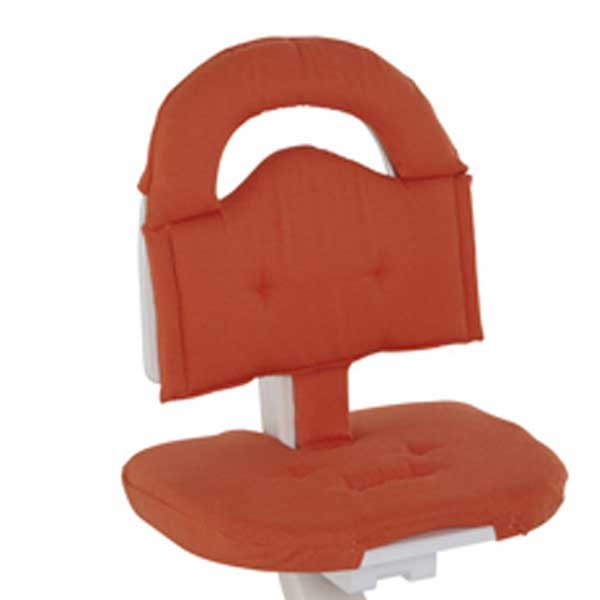 S1038 1 svan signet high chair cushoin orange
