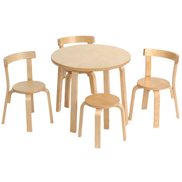 Captivating SVAN Toddler Table And Chair Set Natural