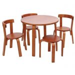 Svan Play With Me Table and Chairs in Cherry