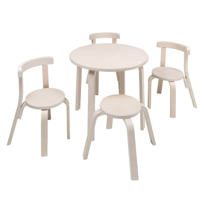 Svan Play With Me Table And Chairs In White