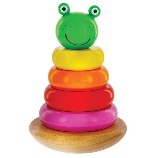 Magnetic Woden Frog Stacker
