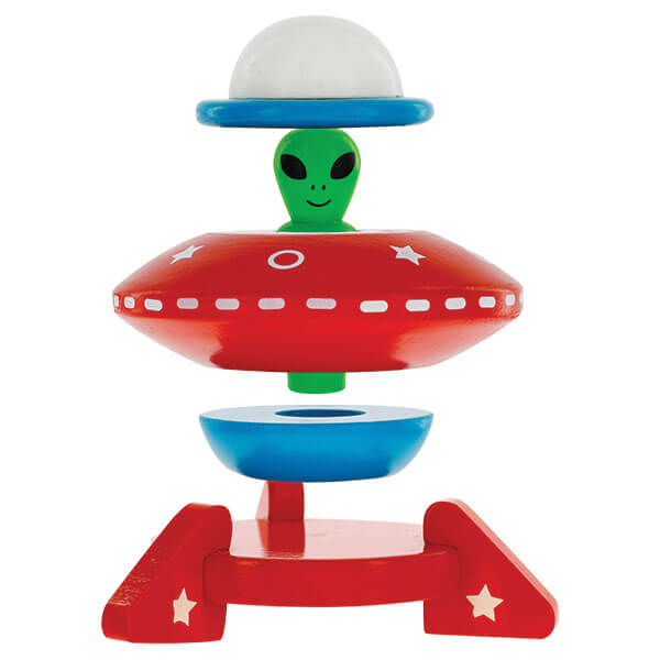 SVAN UFO Magnetic Stacker Wooden Toy