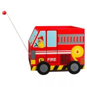Fire Truck Pull-Along Toy Box from Svan