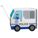 Police Car Pull-Along Toy Box from Svan
